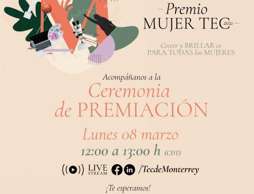 Invitación. Ceremonia de Premiación.  Premio MUJER TEC 2021. Marzo 8. Día Internacional de la Mujer. Invitation. Award Ceremony . Award WOMAN TEC 2021. March. 8 International Women's Day