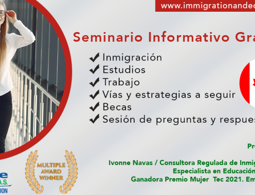SEMINARIO. Inmigración.Estudios.Trabajo en Canadá