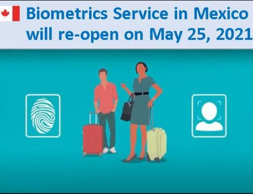 Biometrics Service in Mexico will re-open on May 25, 2021